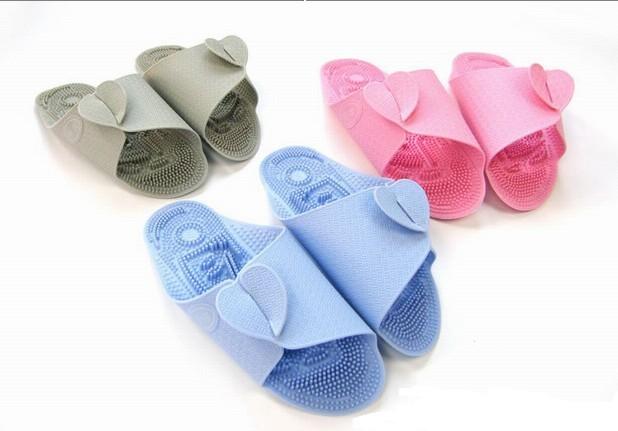 保健护具-韩国热卖超轻便飞机按摩拖鞋(灰色)-保健尽