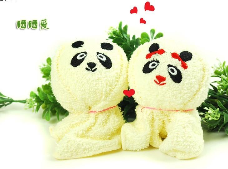 供应可爱小动物情侣毛巾(熊猫)