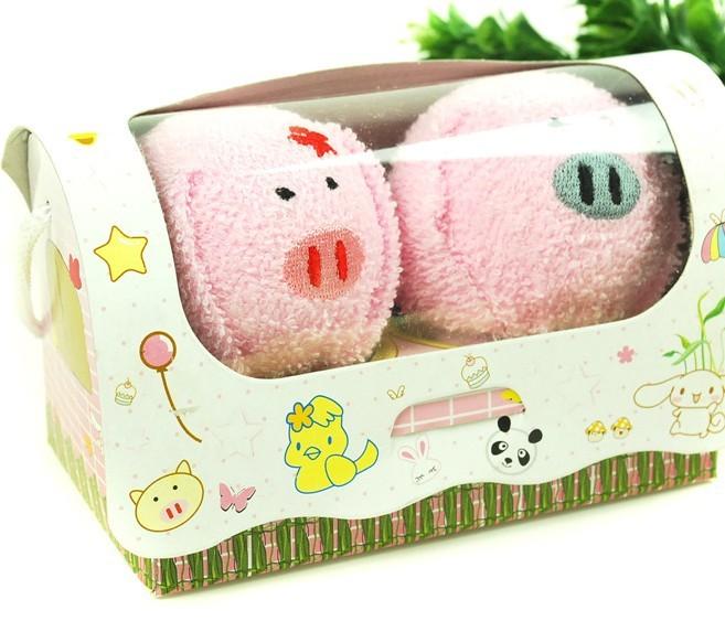 其他巾类-可爱小动物情侣毛巾(小猪)-其他巾类尽在