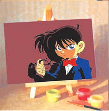 名侦探柯南颜色手绘