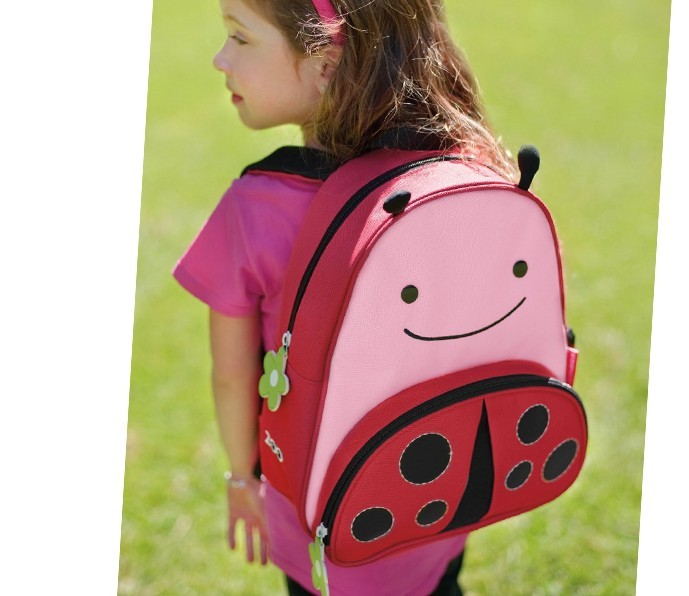 男女学生双肩书包版 可爱小孩帆布背包 z270