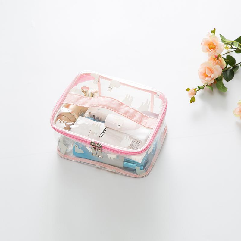 粉色羊驼四方手提包小号