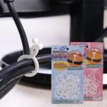 特价 日本木晖 家庭夹线器理线器集线器理线夹绕线器 电线整理夹 绑线带 小号30枚入