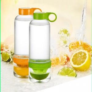 木晖  柠檬杯 瘦身神器 多功能水果榨汁杯 二合一水瓶 能量杯-绿色