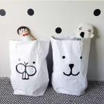 特价 木晖 儿童宝宝房装饰玩具收纳袋环保牛皮纸袋大