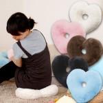 特价 日本木晖 舒适毛绒心形抱枕 椅子沙发垫 坐垫 靠垫