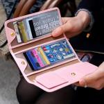 法蒂希 新款优雅气质长款卡包 女式折叠式手拿银行卡夹(036)