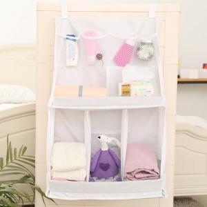 出口原单 宝宝悬挂式整理袋 尿布收纳袋 婴儿床头挂袋