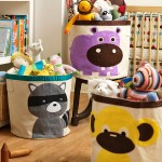 宝宝卡通动物收纳桶有机棉挂袋收纳箱 可折叠脏衣篮儿童玩具收纳袋(淘宝侵权)