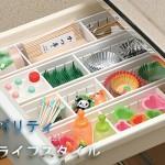 日本木晖 自由分隔 窄型3格抽屉塑料整理筐 杂物收纳盒