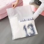 时尚旅行自封袋 衣物分类收纳袋 透明防水收纳包(40*51)