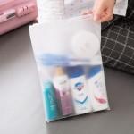 时尚旅行自封袋 衣物分类收纳袋 透明防水收纳包(20*28)