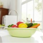 特价 双层果蔬沥水套装 水果盘 蔬菜盘 大号 混色