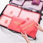 高品质!  防水衣服旅行收纳袋套装 出差旅游必备行李箱衣物内衣整理袋 六件套