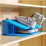 迈辉 省空间居家整理立体双层收纳鞋架  3个装