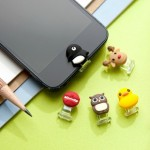特价 台湾Bone iphone  ipad  可爱动物按钮贴 手机防尘塞