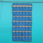 42格牛津布手机挂袋 宿舍教室壁挂收纳袋 多层置物袋 门墙挂兜 插卡