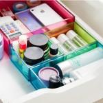 北欧风可叠加杂物抽屉整理盒 透明易分类多用收纳盒(大号)