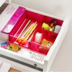 北欧风可叠加杂物抽屉整理盒 透明易分类多用收纳盒(中号)