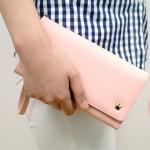 正品Donbook 甜美皇冠腕带手拿包 高级PU皮长款钱包 女士手机包(021)