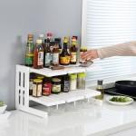 特价 厨房双层橱柜内置物架折叠桌面收纳分层塑料整理储物架