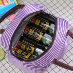 简约经典加厚手提条纹保温包 防水午餐饭盒袋