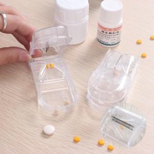 切药器切药分药器随身切药片薬盒便携药盒塑料药片分割器切药盒