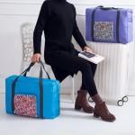 法蒂希 可折叠旅行行李箱收纳包购物单肩包女式碎花加大行李袋