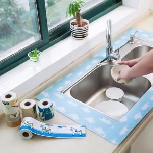 厨房水槽洗菜盆吸水贴洗漱台防水吸湿贴(12x200cm)