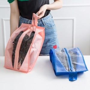 便捷旅行鞋子收纳袋 牛津布防尘鞋罩 防水鞋包透明收纳包旅行鞋袋