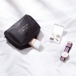 法蒂希 简约尼龙防水手拿立体旅行化妆包小号便携收纳包大容量