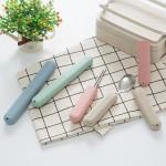 小麦秸秆旅行牙刷盒便携式牙刷套出差牙刷罩学生牙刷收纳盒