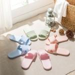 春夏含麻袋便携式折叠居家旅行环保EVA防滑浴室情侣酒店洗澡拖鞋