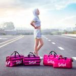 独立鞋袋pink条纹健身包旅行斜跨包手提行李袋瑜珈包防水游泳包女