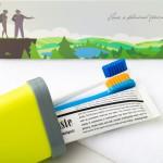 旅行洗漱口杯牙刷牙膏便携套装 情侣牙刷盒旅游牙刷杯牙桶收纳盒
