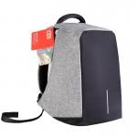 城市波浪双肩包男15.6寸电脑包多功能防盗书包学生青年背包男旅行休闲商务