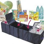 日本木晖 4格可折叠多用途汽车收纳箱 后备箱 杂物箱 保温箱