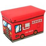 特价 日本儿童卡通公共汽车收纳凳 储物盒 折叠凳 盒装(大号)