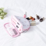 印花旅行化妆包便携大容量双层化妆品收纳包手拿包