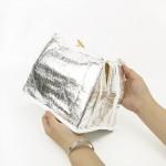 手提铝箔加厚便当包卡通冰包学生防水午餐饭盒袋条纹手拎便当盒