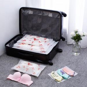 法蒂希透明旅行收纳袋防水密封袋衣物旅游行李衣服打包收纳整理袋(火烈鸟)