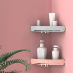 免打孔卫生间置物架塑料厕所洗手间洗漱台三角吸盘壁挂浴室收纳架