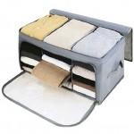经济型竹炭可视上侧双开收纳整理箱 储物箱
