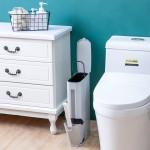垃圾桶家用厨房客厅创意带盖小号纸篓卫生间带盖垃圾桶马桶刷套装