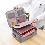 法蒂希  多功能阳离子证件包家用身份证护照整理包密码锁包