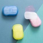 20片便携洗手小肥皂户外洗手卫生香皂片独立装