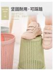 新款仿藤编圆形压圈无盖塑料垃圾桶家用自抽垃圾袋塑料桶