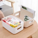 桌面杂物收纳盒塑料收纳筐小篮子储物方形浴室化妆品零食置物盒子