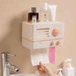 立式卷纸架纸巾盒壁挂纸巾盒复古纸巾盒厕所纸巾盒